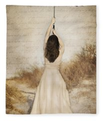 Protection Painted Lady Fleece Blanket