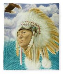 Proud As An Eagle Fleece Blanket