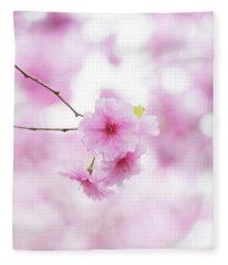 Prunus Pink Ballerina Fleece Blanket