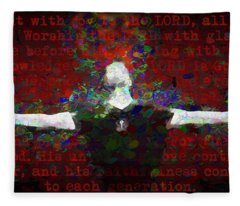 Psalm 100 Fleece Blanket