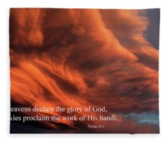 Psalm 19-1 Fleece Blanket