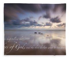 Psalm 19 1 Fleece Blanket