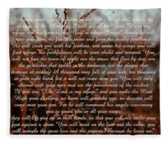 Psalm 91 Fleece Blanket
