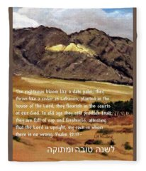 Psalm 92 Fleece Blanket