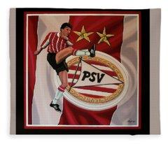 Psv Eindhoven Painting Fleece Blanket