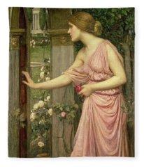 Psyche Entering Cupid's Garden Fleece Blanket