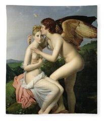 Psyche Receiving The First Kiss Of Cupid Fleece Blanket