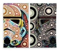 Psychedelic Binom Fleece Blanket