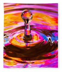 Psychedelic Water Drop Fleece Blanket