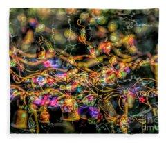 Psychedelic Yard Art Fleece Blanket