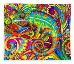 Psychedelizard Fleece Blanket