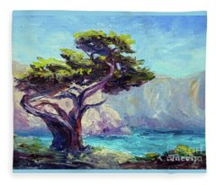 Pt. Lobos Beauty Fleece Blanket