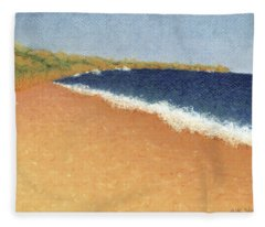 Pt. Reyes Beach Fleece Blanket