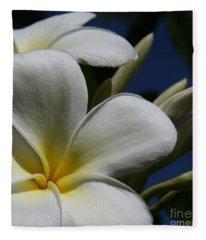 Pua Lena Pua Lei Aloha Tropical Plumeria Maui Hawaii Fleece Blanket