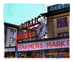 Public Market II Fleece Blanket