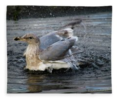 Puddle Bath Fleece Blanket