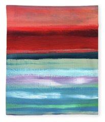 Pueblo- Abstract Art By Linda Woods Fleece Blanket