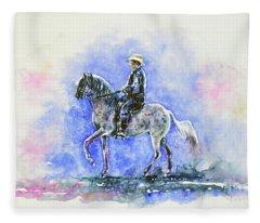 Puerto Rican Paso Fino Rider Fleece Blanket