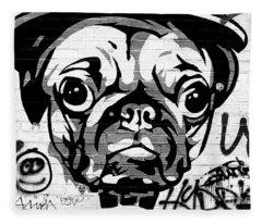 Pug Life Berlin Fleece Blanket