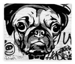Pug Life Fleece Blanket