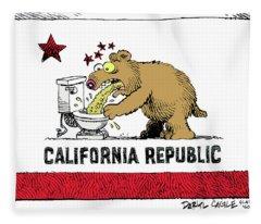 Puke Politics Fleece Blanket