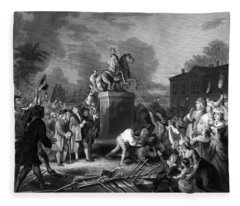 Pulling Down The Statue Of George IIi Fleece Blanket