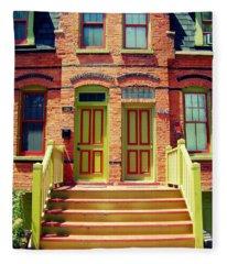 Pullman National Monument Row House Fleece Blanket