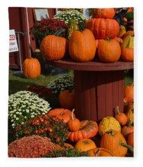 Pumpkin Display Fleece Blanket