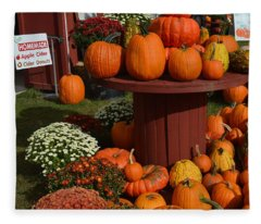 Pumpkin Display Fleece Blanket