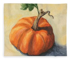 Pumpkin Everything Fleece Blanket