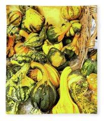 Pumpkin Family Fleece Blanket