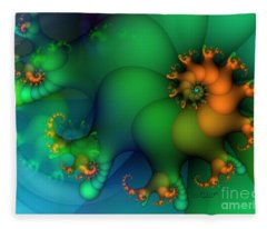 Pumpkin Garden Fleece Blanket