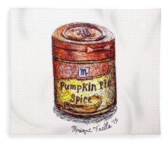Pumpkin Pie Spice Fleece Blanket