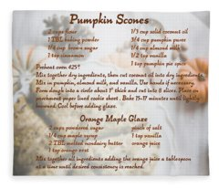 Pumpkin Scones Recipe Fleece Blanket