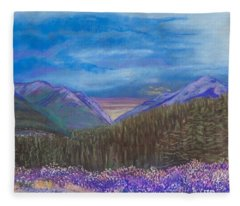 Purple Alaska Fleece Blanket
