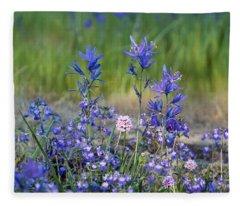 Purple And Pink Fleece Blanket