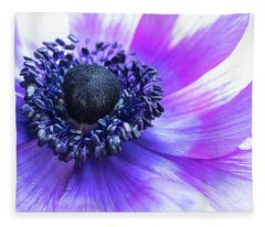 Purple Anemone Fleece Blanket