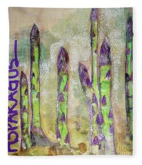 Purple Asparagus Fleece Blanket