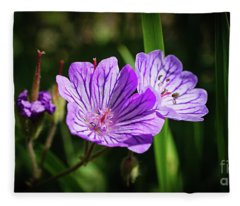 Purple Attraction Fleece Blanket