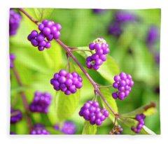 Purple Berries Fleece Blanket