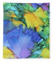 Purple Bird Of Paradise Fleece Blanket