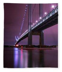 Purple Bridge Fleece Blanket