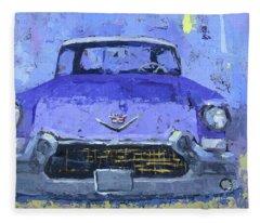 Purple Cadillac Fleece Blanket