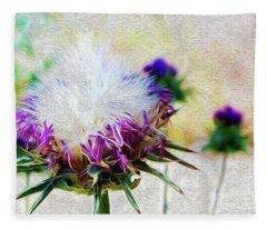 Purple Chaparral  Fleece Blanket