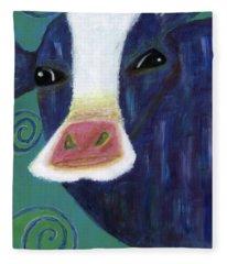 Santa Cow Fleece Blanket