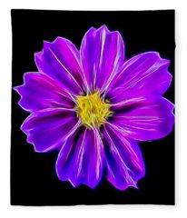 Purple Electric Fleece Blanket