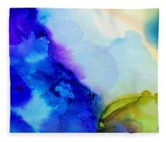 Purple Flow Fleece Blanket