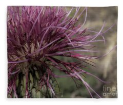 Purple Flower 2 Fleece Blanket