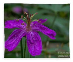 Purple Flower 5 Fleece Blanket