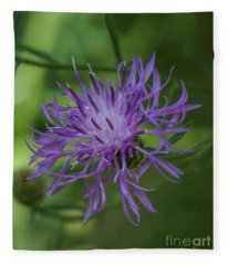 Purple Flower 8 Fleece Blanket